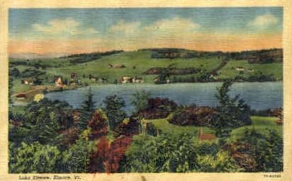 Lake Elmore - Vermont VT Postcard