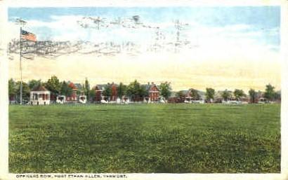 Officers Row - Fort Ethan Allen, Vermont VT Postcard