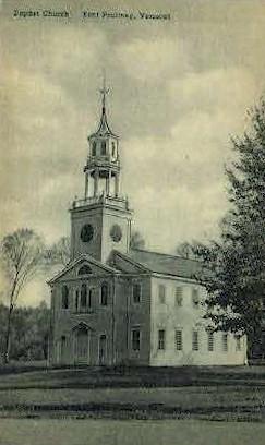 Baptist Church - East Poultney, Vermont VT Postcard