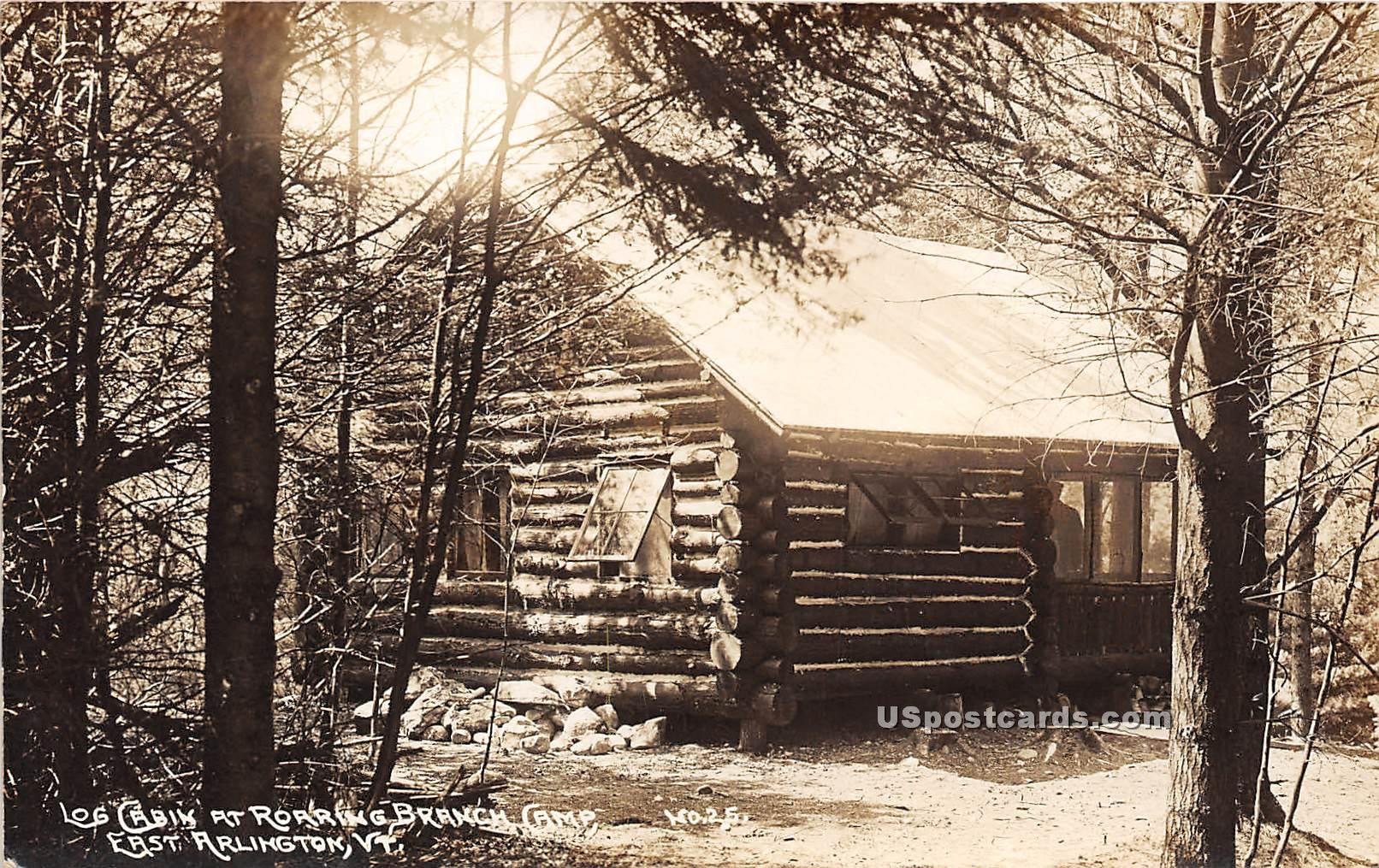 Roaring Branch Camps - East Arlington, Vermont VT Postcard