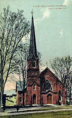 First Methodist Church - Fair Haven, Vermont VT Postcard