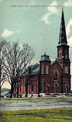 First Methodist Church - Fair Haven, Vermont VT Postcard