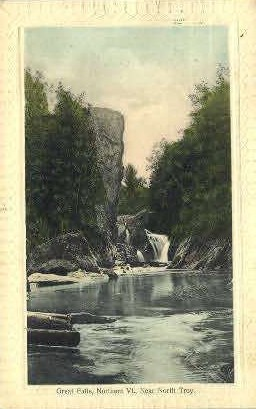 Great Falls - North Troy, Vermont VT Postcard