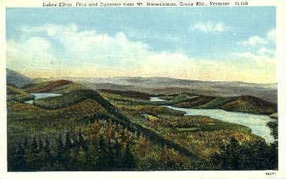 Lake Silver - Green Mountains, Vermont VT Postcard