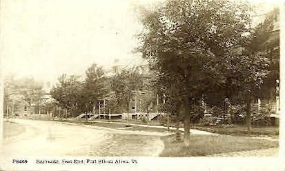 Real Photo - Barracks - Fort Ethan Allen, Vermont VT Postcard