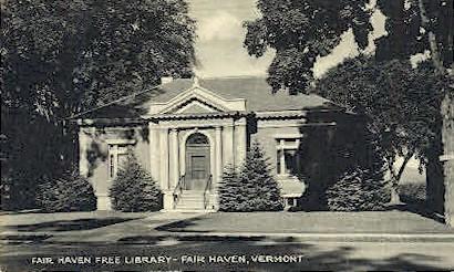 Fair Haven Free Library - Vermont VT Postcard