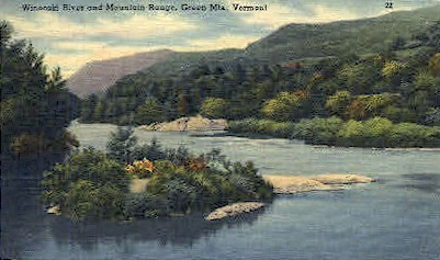 Winooski River - Green Mountains, Vermont VT Postcard