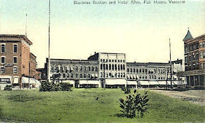 Business Section - Fair Haven, Vermont VT Postcard