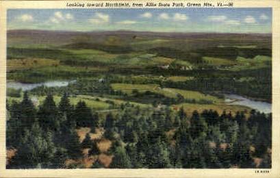 Allis State Park - Green Mountains, Vermont VT Postcard