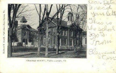 Graded School - Fair Haven, Vermont VT Postcard