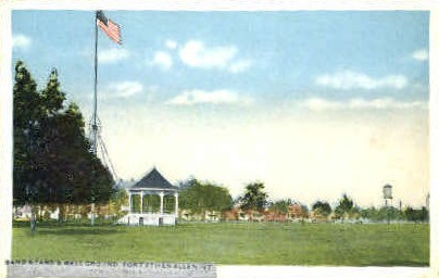 Band Stand - Fort Ethan Allen, Vermont VT Postcard