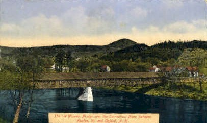 Wooden Bridge - Fairlee, Vermont VT Postcard