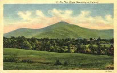 Mount Pico - Green Mountains, Vermont VT Postcard