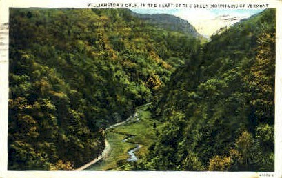 Williamstown Gulf - Green Mountains, Vermont VT Postcard