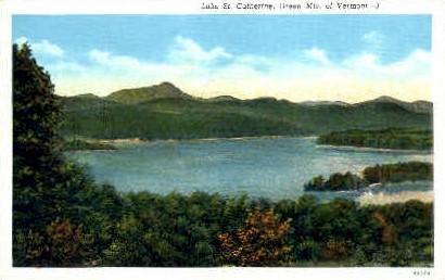 Lake St. Catherine - Green Mountains, Vermont VT Postcard