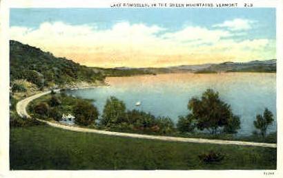 Lake Bomoseen - Green Mountains, Vermont VT Postcard