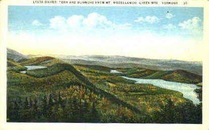 Lakes Silver - Green Mountains, Vermont VT Postcard