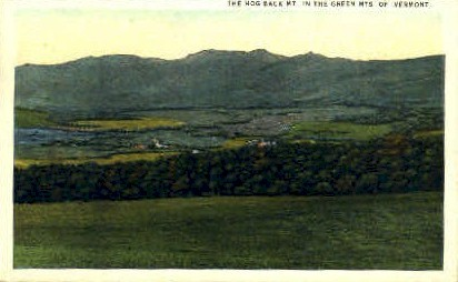Hog Back Mountain - Green Mountains, Vermont VT Postcard