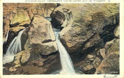 Bingham Falls - Green Mountains, Vermont VT Postcard