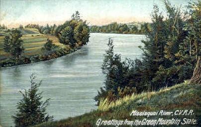 Missisiquoi River - Green Mountains, Vermont VT Postcard