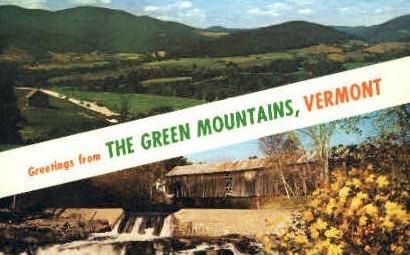 Green Mountains - Vermont VT Postcard