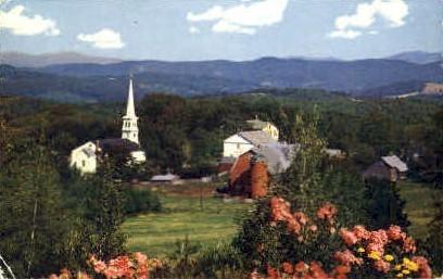 Vermont Mountain Village - Green Mountains Postcard
