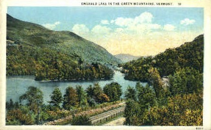 Emerald Lake - Green Mountains, Vermont VT Postcard