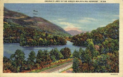 Emerald Lake - Green Mountains, Vermont VT Postcard
