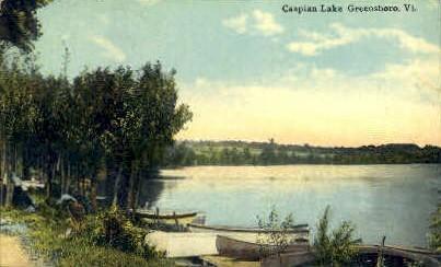 Caspian Lake - Greensboro, Vermont VT Postcard