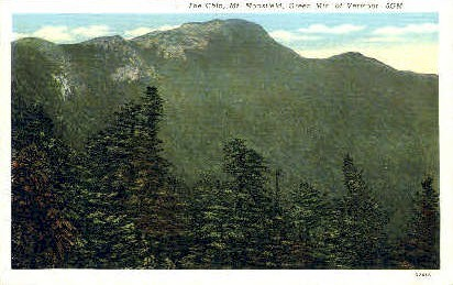 The Chin - Green Mountains, Vermont VT Postcard