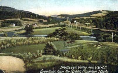 Middlesex Valley - Green Mountains, Vermont VT Postcard