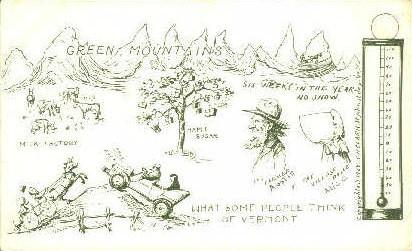 Green Mountains, Vermont, VT Postcard