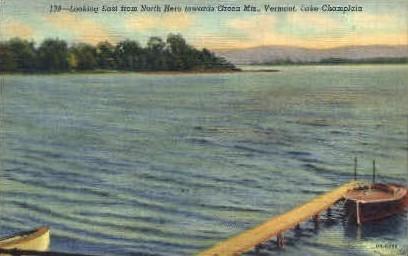 Lake Champlain - Green Mountains, Vermont VT Postcard