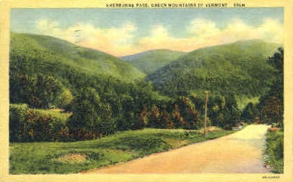 Sherburne Pass - Green Mountains, Vermont VT Postcard