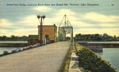 Lake Champlain - Grand Isle, Vermont VT Postcard