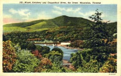Mount Ascutney - Green Mountains, Vermont VT Postcard