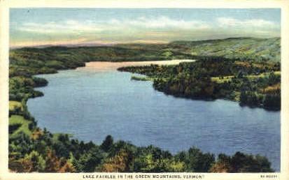 Lake Fairlee - Green Mountains, Vermont VT Postcard