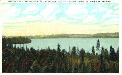 Caspian Lake - Green Mountains, Vermont VT Postcard