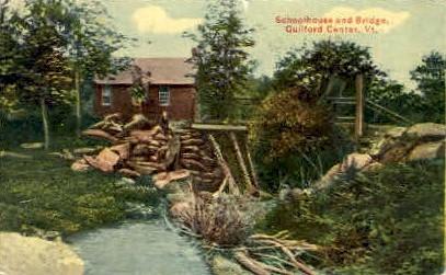 Schoolhouse - Guilford Center, Vermont VT Postcard