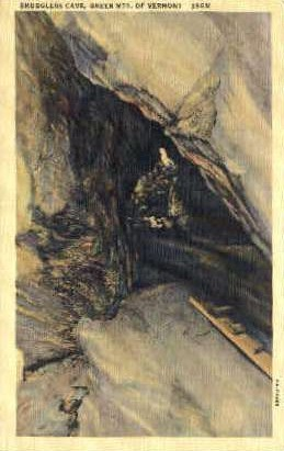 Smugglers Cave - Green Mountains, Vermont VT Postcard