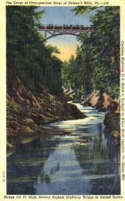 Ottaquechee River - Deweys Mills, Vermont VT Postcard