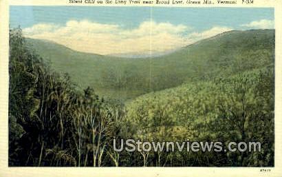 Silent Cliff - Green Mountains, Vermont VT Postcard