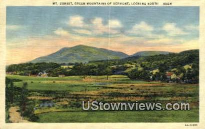 Mt Dorset - Green Mountains, Vermont VT Postcard