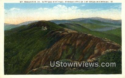 Mt. Mansfield - Green Mountains, Vermont VT Postcard