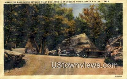 Smugglers Notch - Green Mountains, Vermont VT Postcard