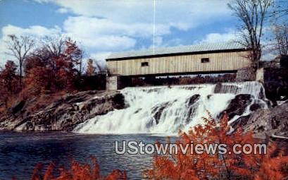 Vermont Covered Bridge - Green Mountains Postcard