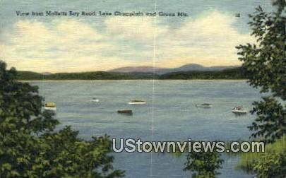 Malletts Bay Road - Green Mountains, Vermont VT Postcard