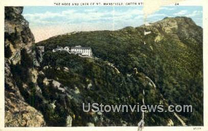 Nose & Chin, Mt Mansfield - Green Mountains, Vermont VT Postcard