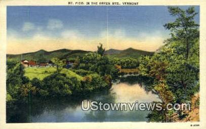 Mt Pico - Green Mountains, Vermont VT Postcard