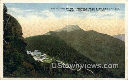 Mt Mansfield - Green Mountains, Vermont VT Postcard